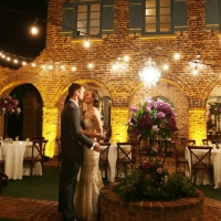 Orlando Wedding Venue Casa Feliz with uplighting