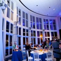 Blue Uplighting - Orlando Museum of Art Wedding