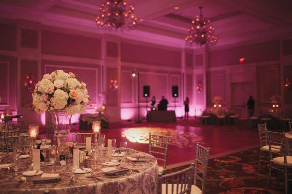 Waldorf Astoria Orlando Wedding Venue Pink Wash Uplighting