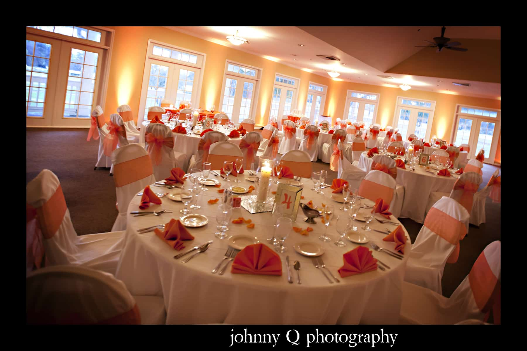orlando wedding dj, our dj rocks, tuscawilla country club wedding, orange uplighting