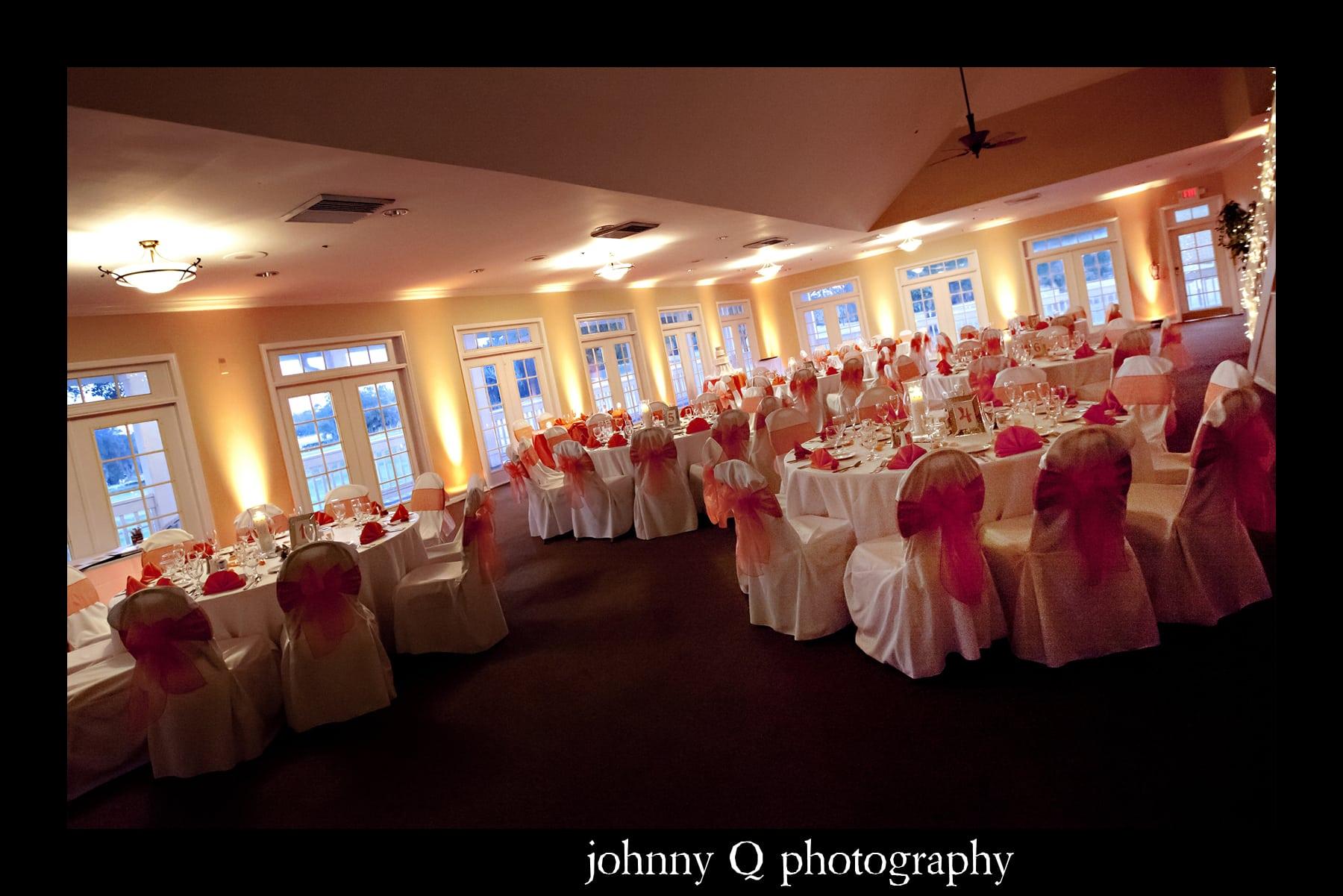 Orlando Wedding Dj Tuscawilla Country Club Johnny Q Photography Orange Uplighting