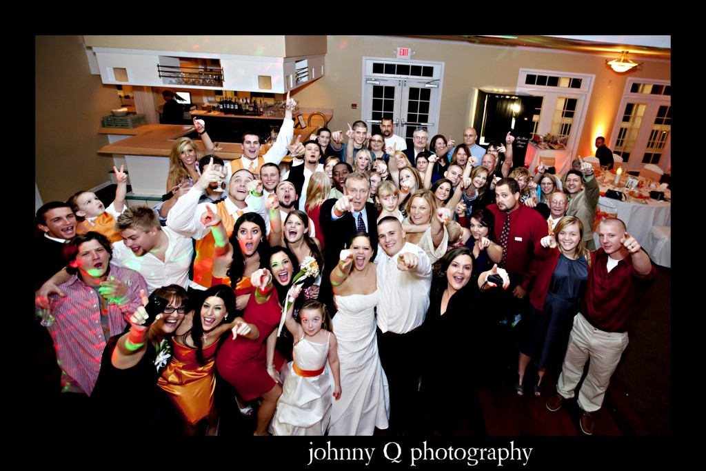 Orlando Wedding DJ - Tuscawilla Country Club wedding - orange uplighting - Johnny Q Photography