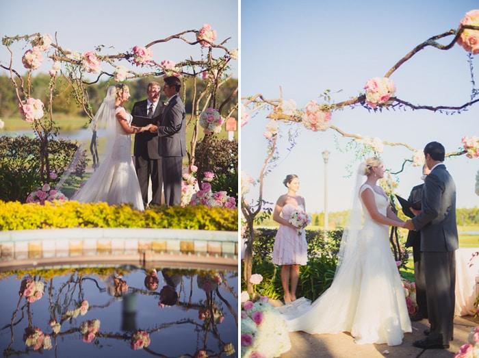 Wedding At Rosen Shingle Creek Soft Pink Uplighting