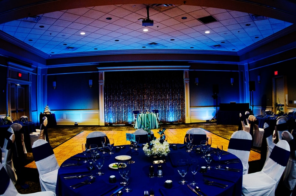 leu gardens wedding - blue uplighting - orlando wedding dj - our dj rocks - orlando wedding uplighting