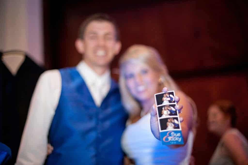Blue and Orange Gator Theme Wedding - orlando museum of art - Orlando wedding dj - our dj rocks - blue uplighting