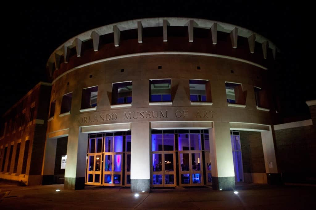 orlando museum of art - Orlando wedding dj - our dj rocks - blue uplighting