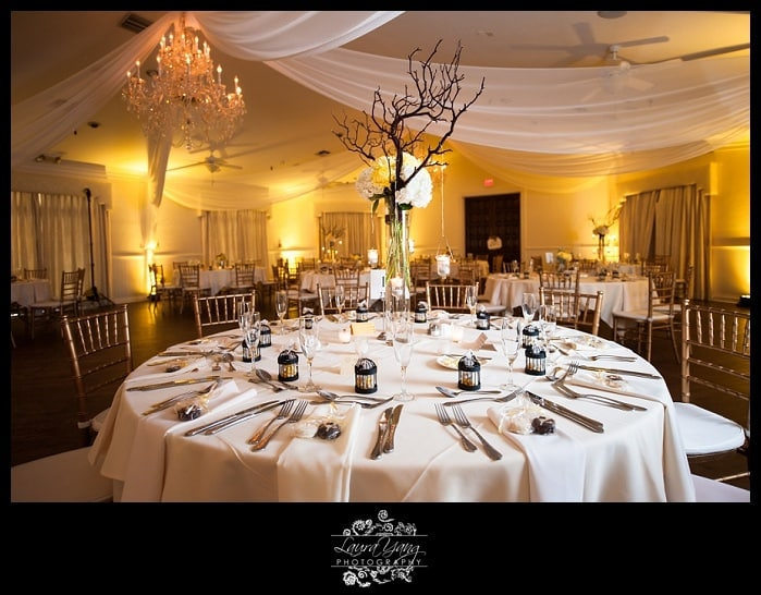 highland manor wedding - yellow uplighting - orlando wedding uplighting