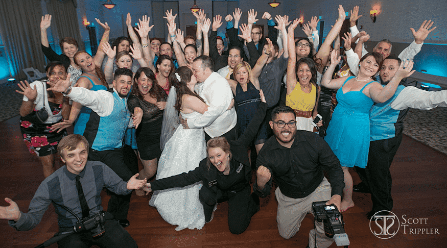 packed dance floor at lake mary event center wedding with orlando wedding dj our dj rocks