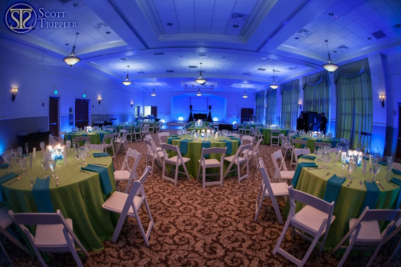 Orlando Wedding Blue Uplighting at Lake Mary Event Center