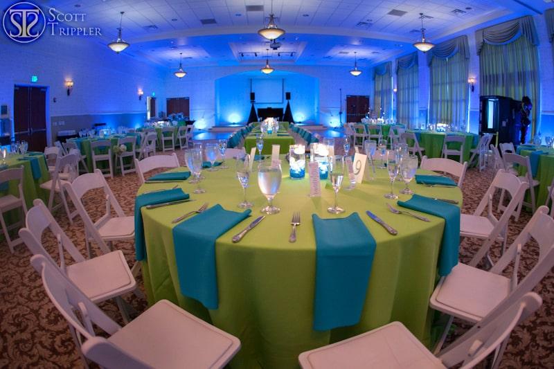 blue uplighting at lake mary event center wedding