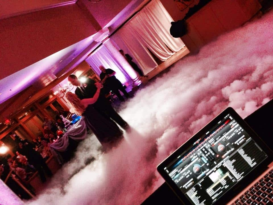 Elaine + Jeff's First dancing, dancing on a cloud, provided by Our DJ Rocks, at Mission Inn Resort and Club