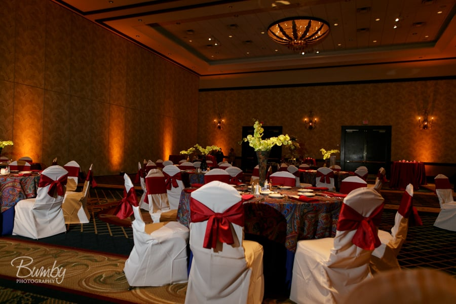 Amber Uplighting at Wyndham Orlando Resort Wedding