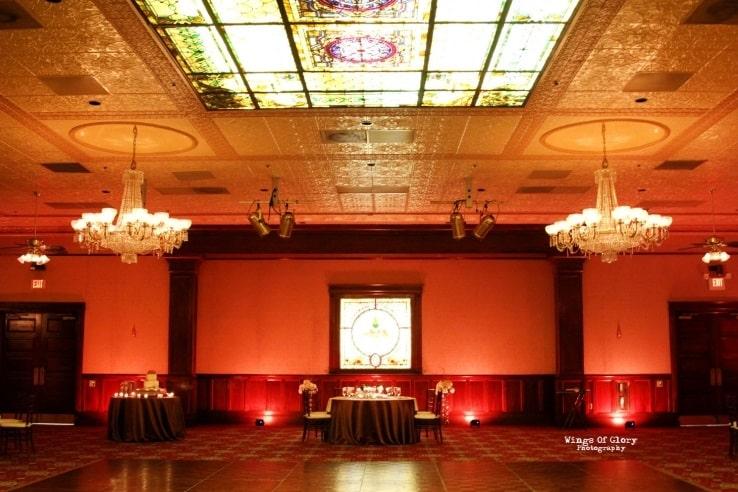 Orlando Wedding DJ - Ballroom Chruch Street Amber Uplighting