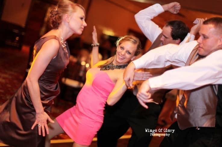 Orlando Wedding DJ - Ballroom Chruch Street with Amber Uplighting