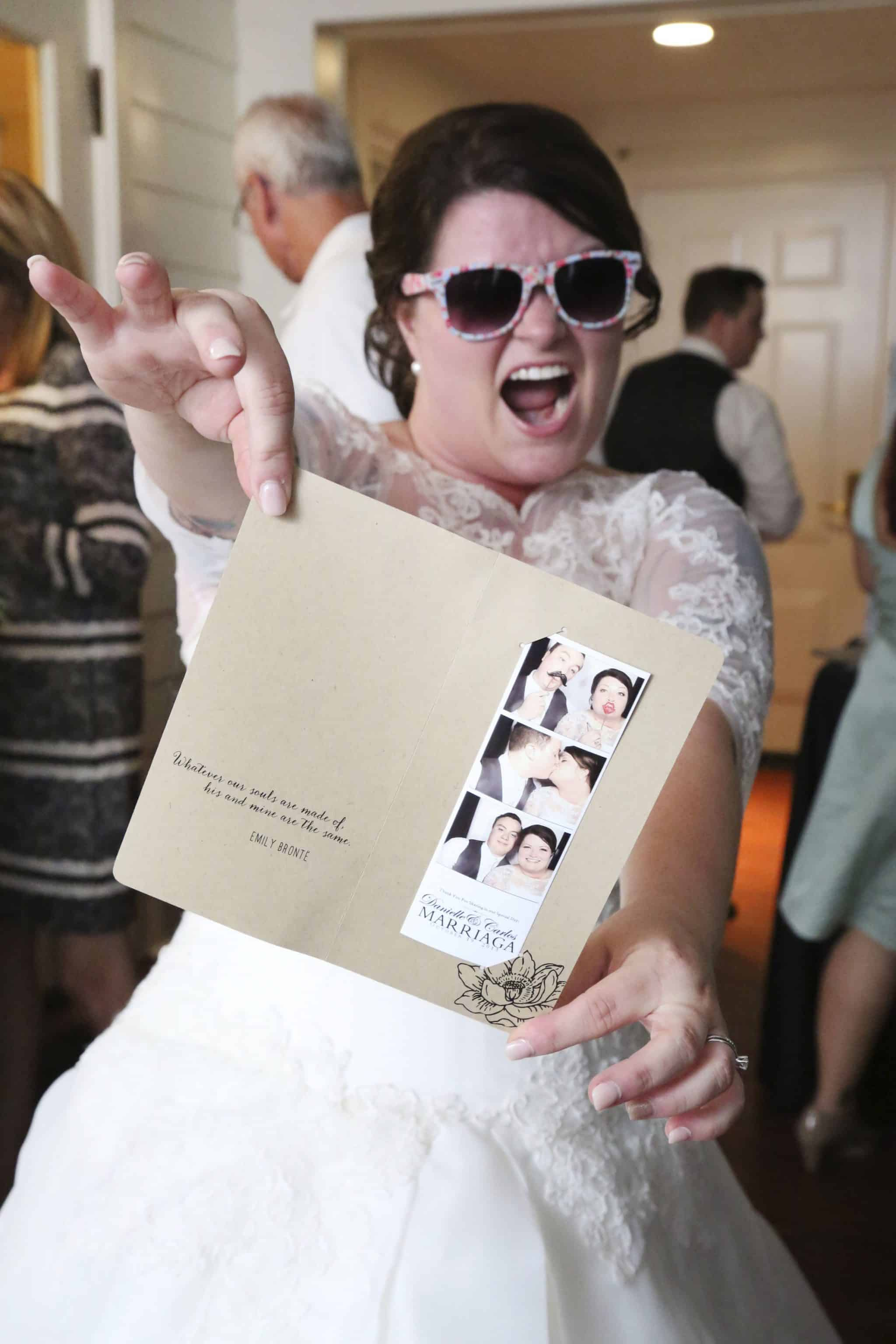 Photobooth Brides having fun with Our DJ Rocks