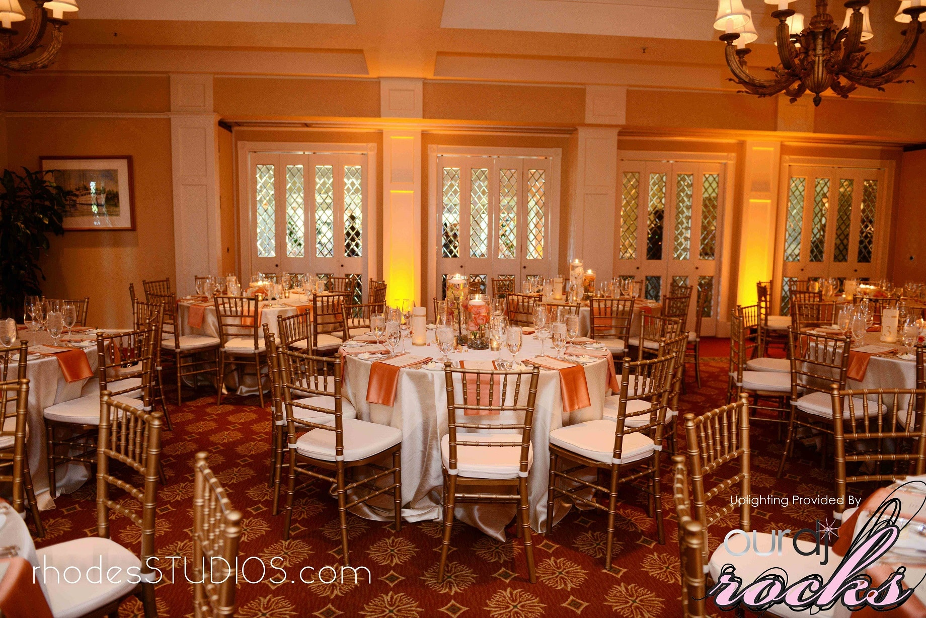 Amber UpLighting at Interlachen Country Club