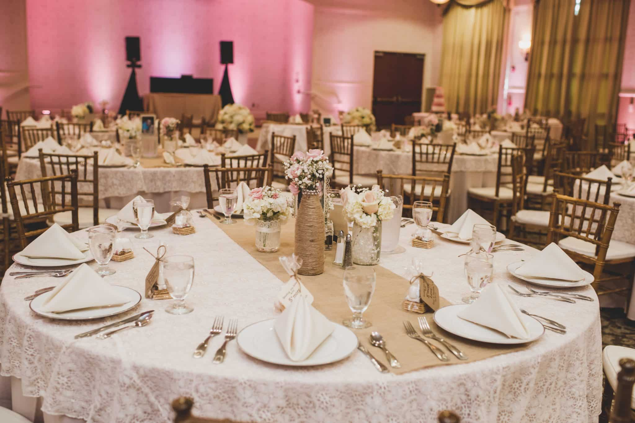 Light Pink, Gold and Romantic at Lake Mary Events Center