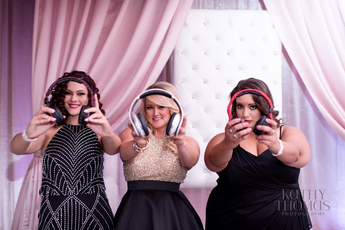 our dj rocks orlando wedding dj blush pink uplighting female DJs