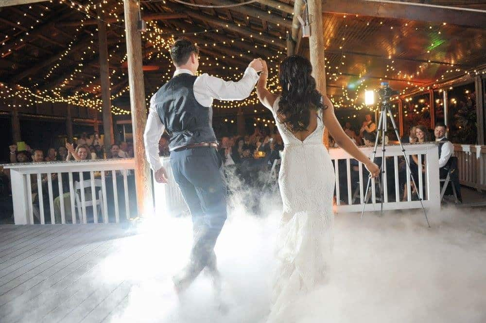 dancing on a cloud at Orlando wedding venue paradise cove