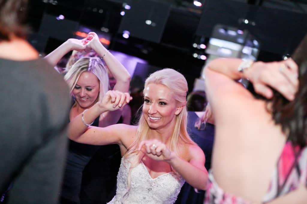 bride dancing on the dance floor at the mezz downtown orlando wedding