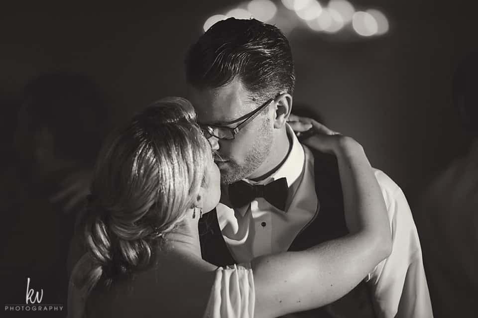 bride and groom's first dance at the Orlando Wedding Venue  Ballroom at church street