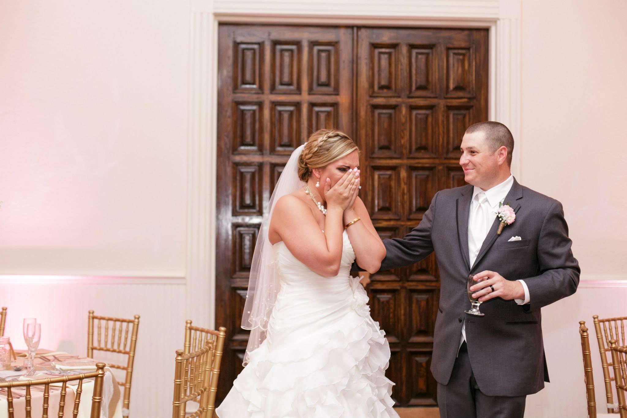 Rustic Chic Romantic Wedding at Highland Wedding – Blush Pink Uplighting