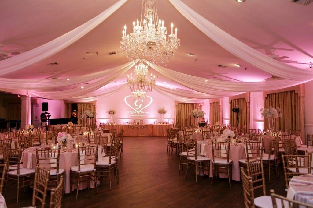 blush pink uplighting at high manor in apopka