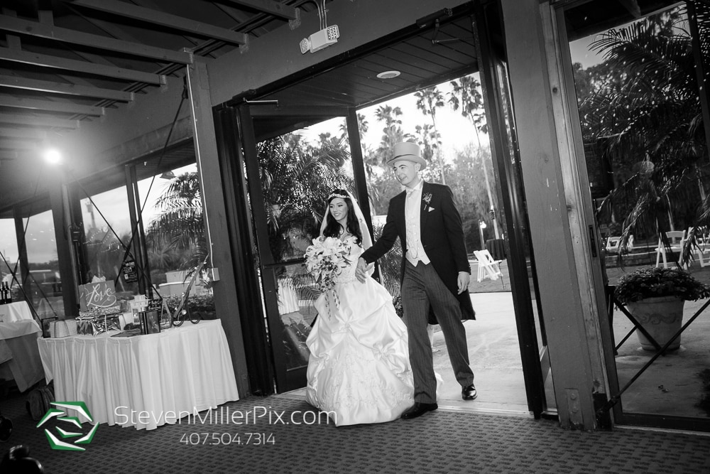 Bride & Groom for intros at Orlando Wedding Venue Marina Del Rey At Mission Inn