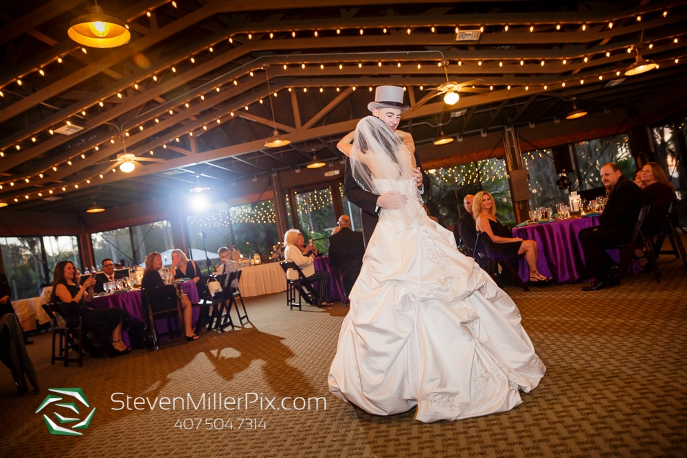 Bride & Groom first dance at Orlando Wedding Venue Marina Del Rey At Mission Inn