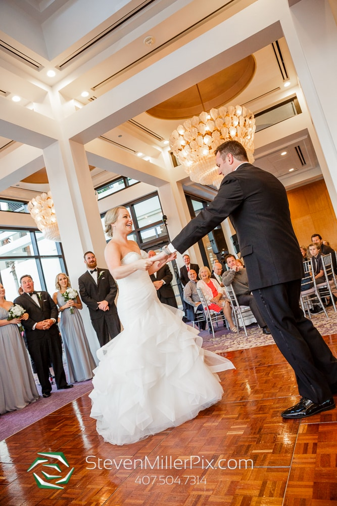 Bride and groom at dancing at Orlando Wedding Venue Hyatt Regency Grand Cypress