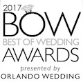 Best of Weddings Award by Orlando Wedding Magazine