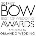 Best of Weddings Award by Orlando Wedding Magazine