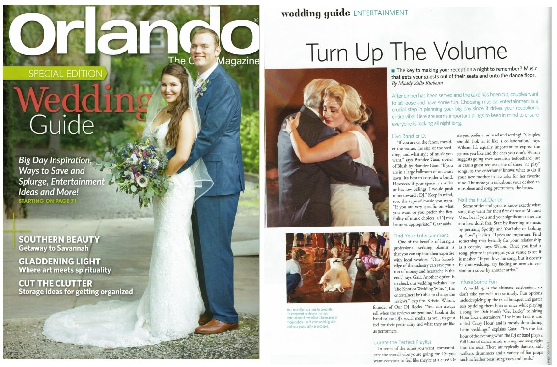 Orlando Magazine - Turn up the Volume our dj rocks feature