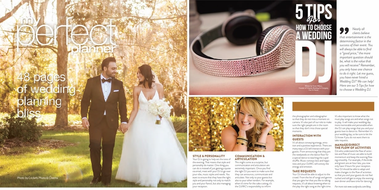 my perfecct planner feature of orlando wedding dj