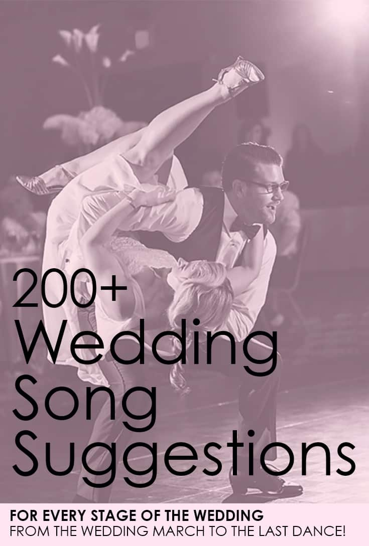 200+ Wedding Song Suggestions for every moment of your ...