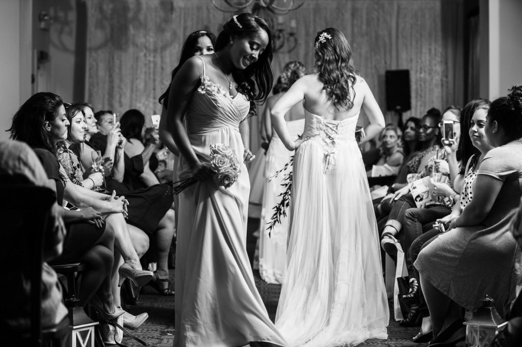 Wedding Dress with corset back. Wedding dress runway show.