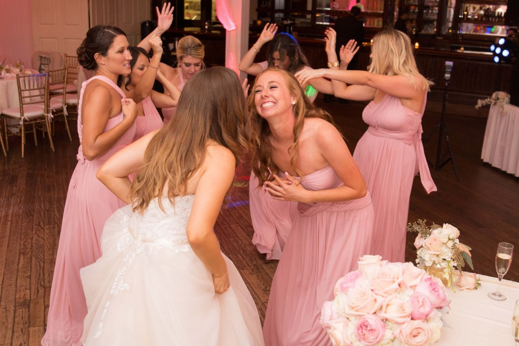Pink bridesmaid wedding dresses
