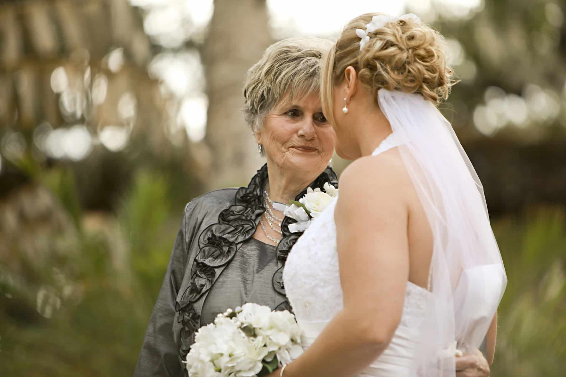 Bride with grandma