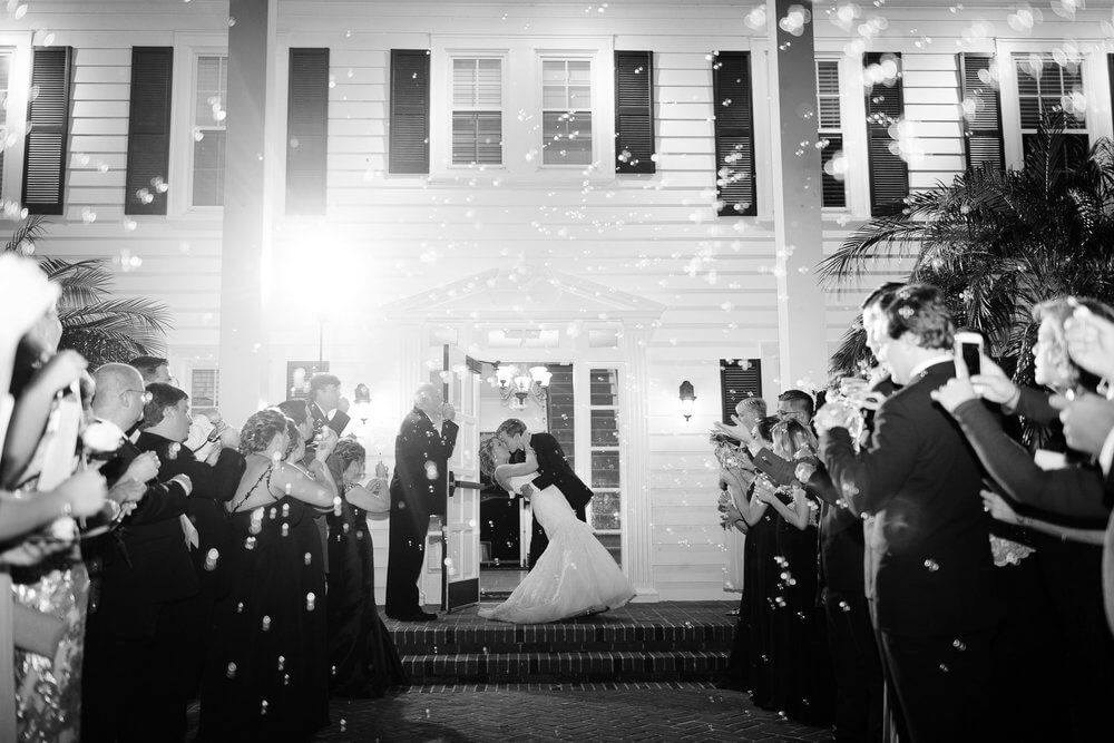 cypress grove wedding grand bubble exit