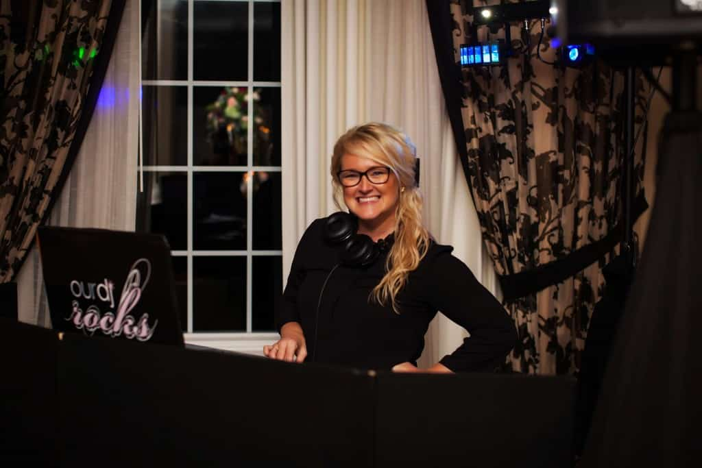 Our DJ Rocks. Kristin Wilson. Female DJ. Wedding DJ.