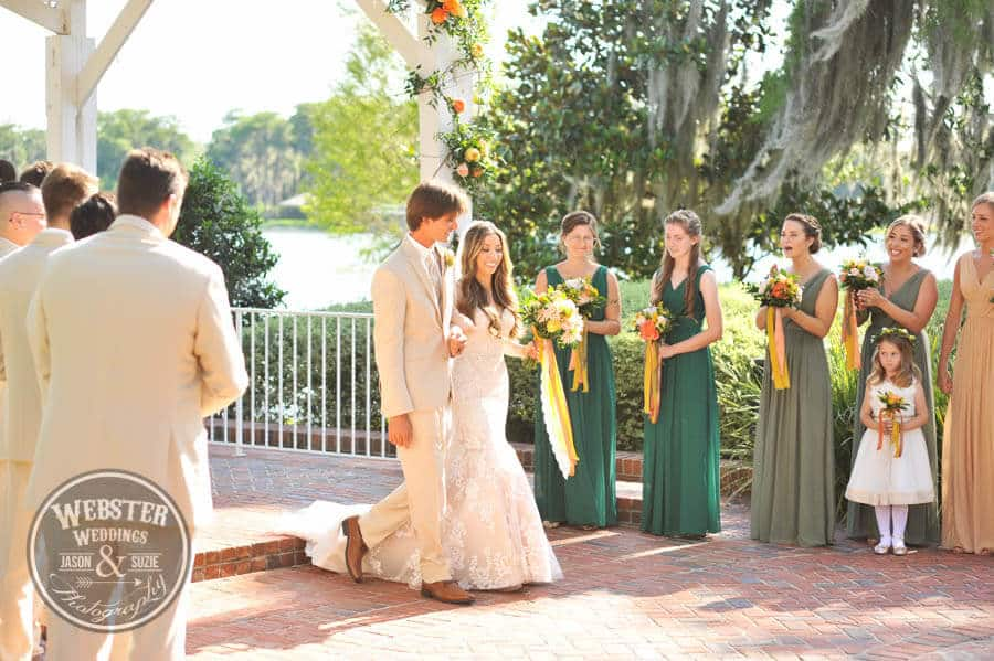 orlando wedding dj at cypress grove estate house with allison and joey