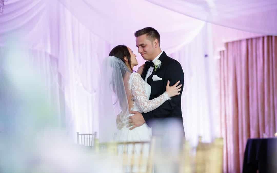 Highland Manor Wedding – Purple and White Uplighting