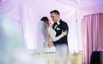 Highland Manor Wedding – Purple and White Uplighting