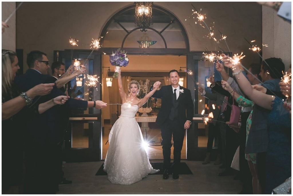 Alfond inn wedding sparkler grand exit