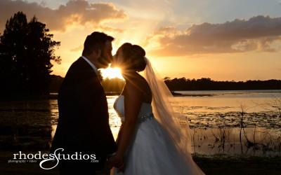 Lake Mary Events Center Wedding – Royal Blue Uplighting