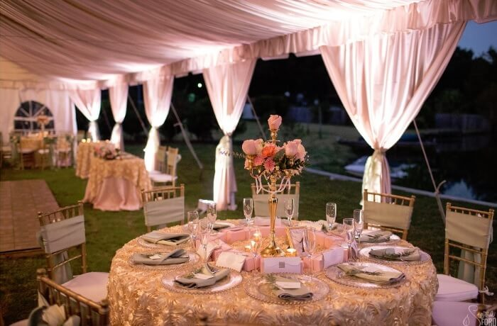 Private Residence – Outdoor Elegant Tent Wedding
