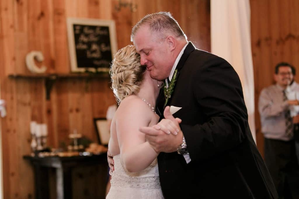 Delamater House wedding father daughter dance in reception area