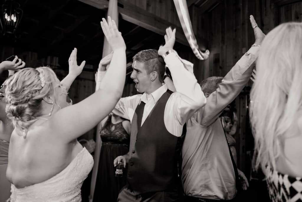 Delamater House wedding bride and groom dancing during reception