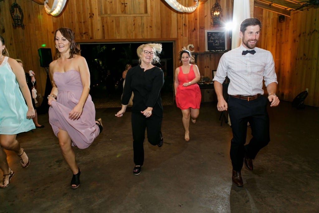 Delamater House wedding reception dance with Kristin Wilson from Our DJ Rocks