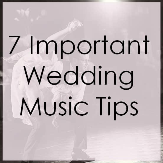 7 important wedding music tips